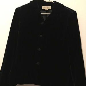 Jones New York Black Velvet Blazer